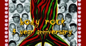 Body Rock 3 Year Anniversary flyer